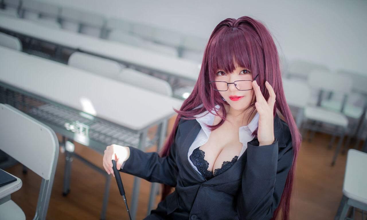 【Cosplay】[Yoko宅夏] 斯卡哈教师 COS-第1张