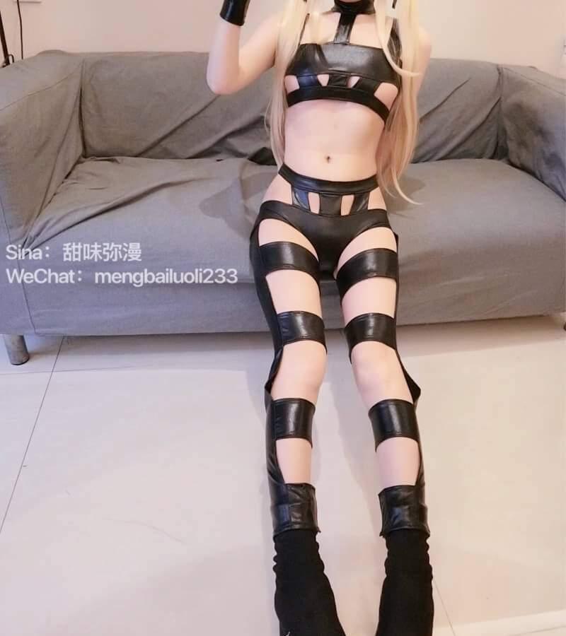 【Cosplay】【萌白酱】路人女主的养成方法 英梨梨 皮革装束 COS-第7张