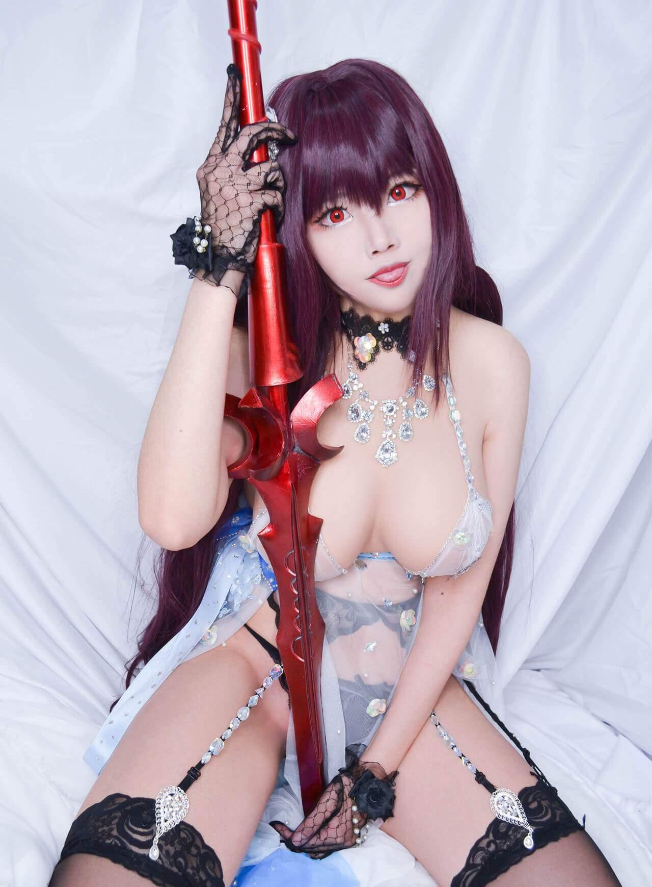 【Cosplay】[Kaya] Fate Grand Order スカサハ(ロイヤル・アイシング) COS-第2张