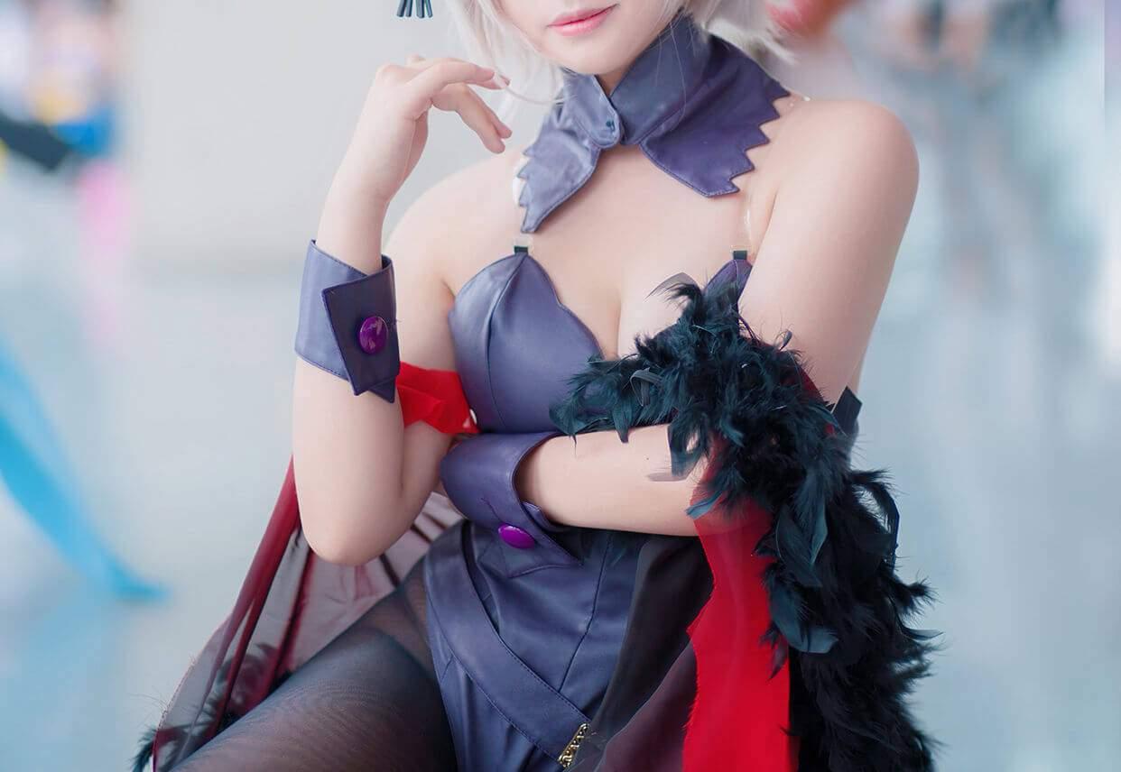 【Cosplay】Fate Grand Order 黑贞德 碧蓝航线 高雄 COS-第6张