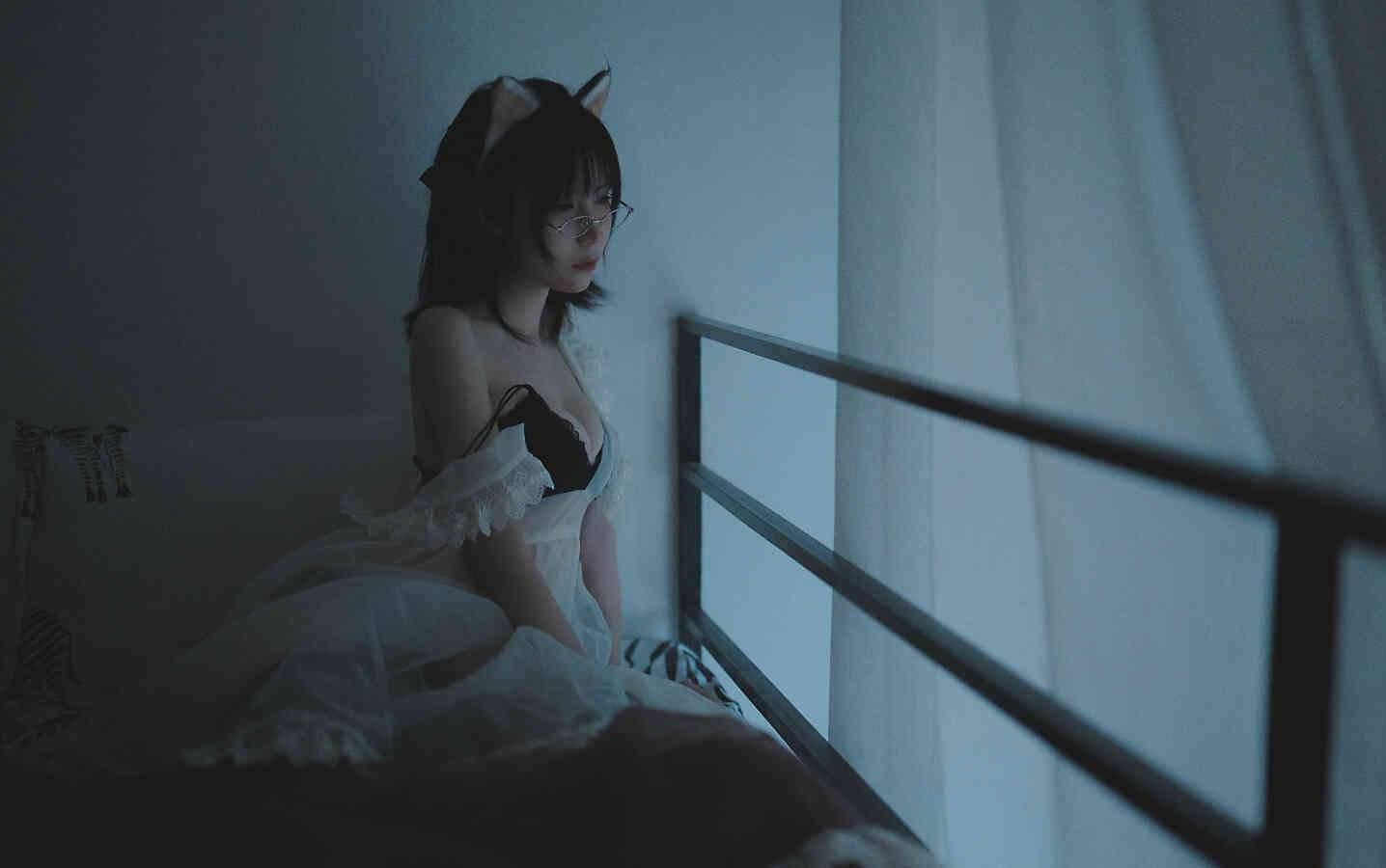 【Cosplay】逐月SU - 透明女仆未预售版 [46P/2.8G] COS-第3张