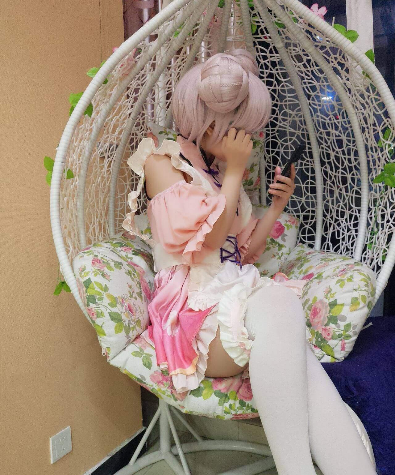 【Cosplay】【甜美小娇妾沈娇娇】 王者荣耀 小乔【120】 COS-第4张